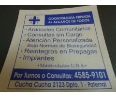 DENTISTAS PARTICULARES 4585 9101