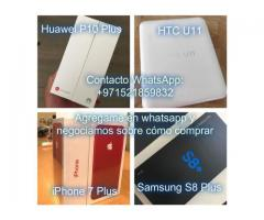 Samsung S8 Plus y iPhone 7 Plus y HTC U11 y  Huawei P10 Plus y OnePlus 5